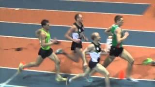 Бег 1500 метров. Чемпионат республики Беларусь. Могилев 20 февраля 2016 года