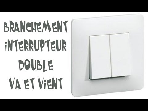 branchement interrupteur double va et vient youtube. Black Bedroom Furniture Sets. Home Design Ideas