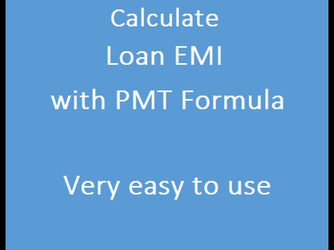 PMT Formula - Calculate EMI For Loan - YouTube