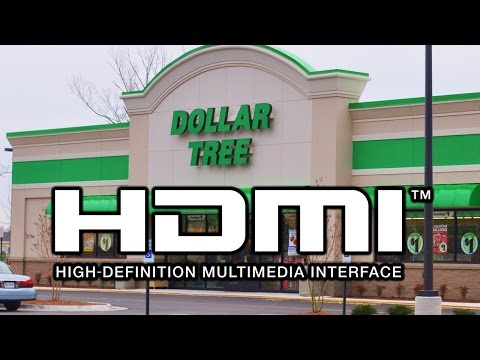 HDMI Cables Now At Dollar Tree