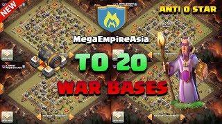Mega Empire Asia Top 20 War Bases 2018 - TH 11 best war base 2018 | anti 0 star / anti 1 star