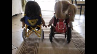 The American Girl Doll Wheelchair Race!