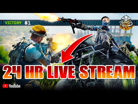 BLACKOUT 24HR LIVE STREAM!!! (20,000+ Kills | 10+ K/D | 530+ Wins) Call Of Duty: Black Ops 4 thumbnail