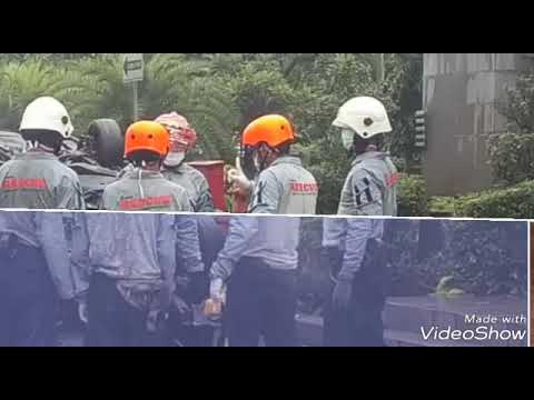 Jakarta outer ring road  Road Rescue training