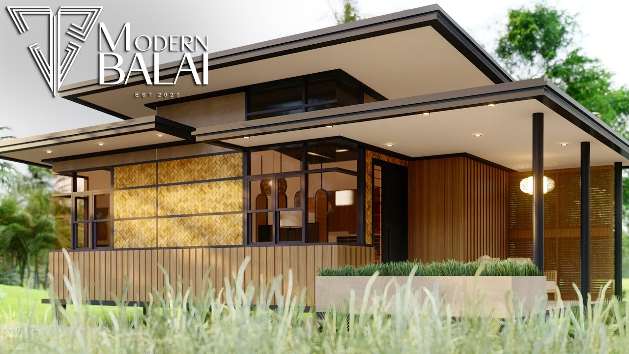 Modern Bahay Kubo 53 Sqm Small House With Interior Design Modern Balai Youtube