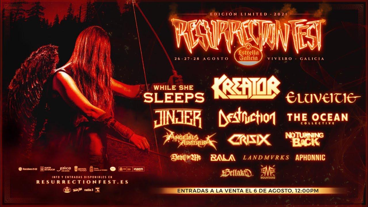 Resurrection Fest Estrella Galicia Limited 2021: del 26 al 28 de agosto de 2021, ¡nos vemos!