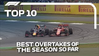 Top 10 F1 Overtakes of 2019... So Far!
