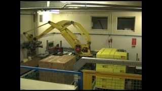Robertpack palletiseren voor dozen met emmers margarine