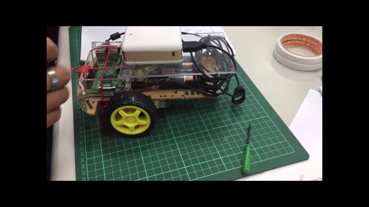 明新科技大學105學年度-畢業專題-樹莓派應用 自走車影像追蹤 - YouTube