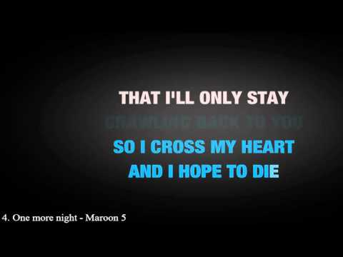 4. One More Night - Lyric by Maroon 5