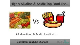Highly Alkaline Vs Acidic.. Top Food List  Alkaline - Acidic Food List- New