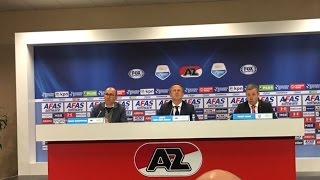 Persconferentie na AZ - FC Twente