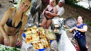Отдых с друзьями на природе /// Полевая кухня /// Катание на лошадях.