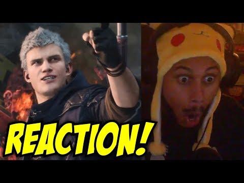 ZA WARUDO! Devil May Cry 5 - Dante Reveal Gameplay Trailer | Gamescom 2018 REACTION!
