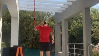 El santafesino Pablo Vegetti entrena durante la cuarentena al ritmo del Master Mario Pereyra