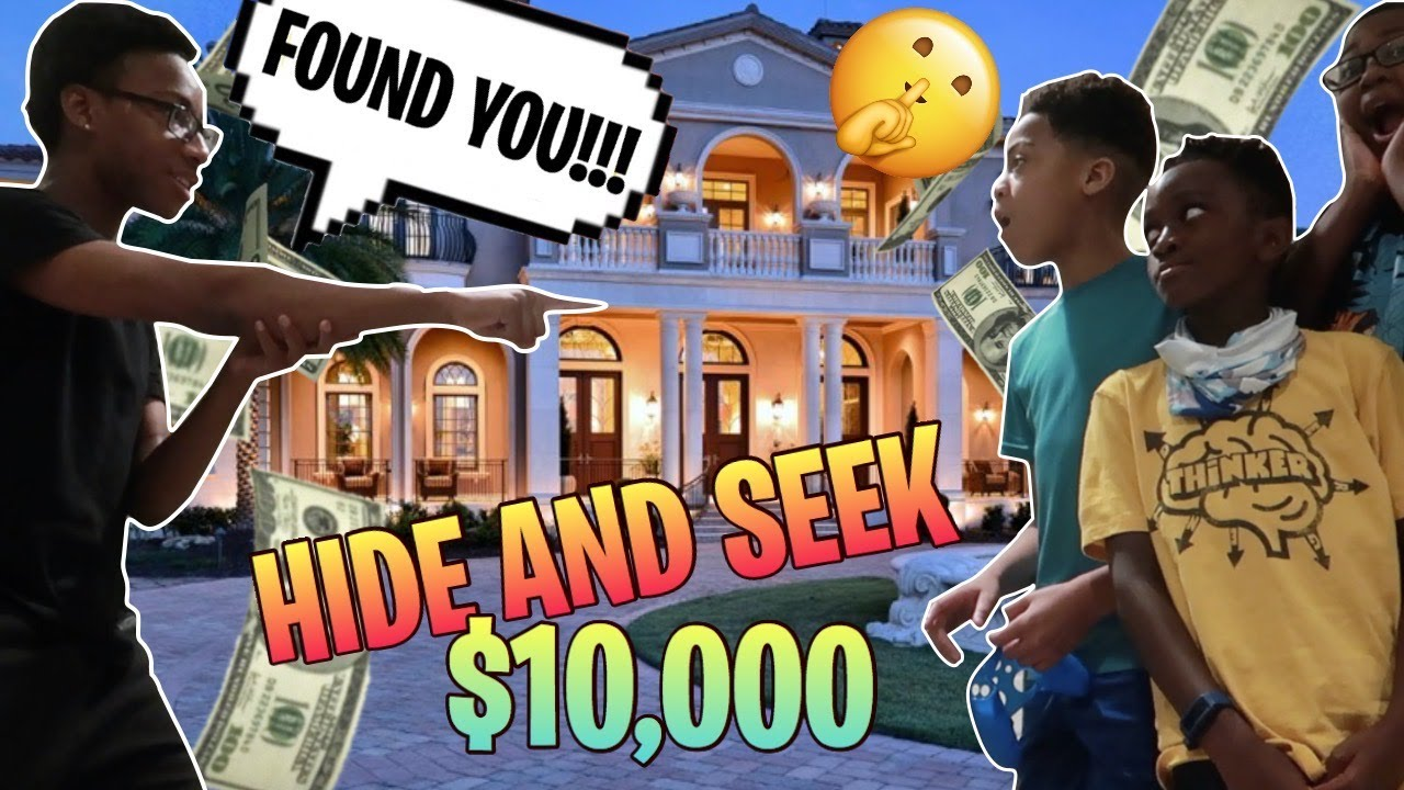 $10,000 Extreme Hide and Seek Challenge in a MANSION