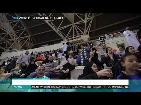 Saudi Arabia allows women to watch football match in stadiums