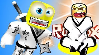 Я стану НИНДЗЯ в ROBLOX челлендж Испытание от учителя Ninja Training Obby Видео для детей от SPTV