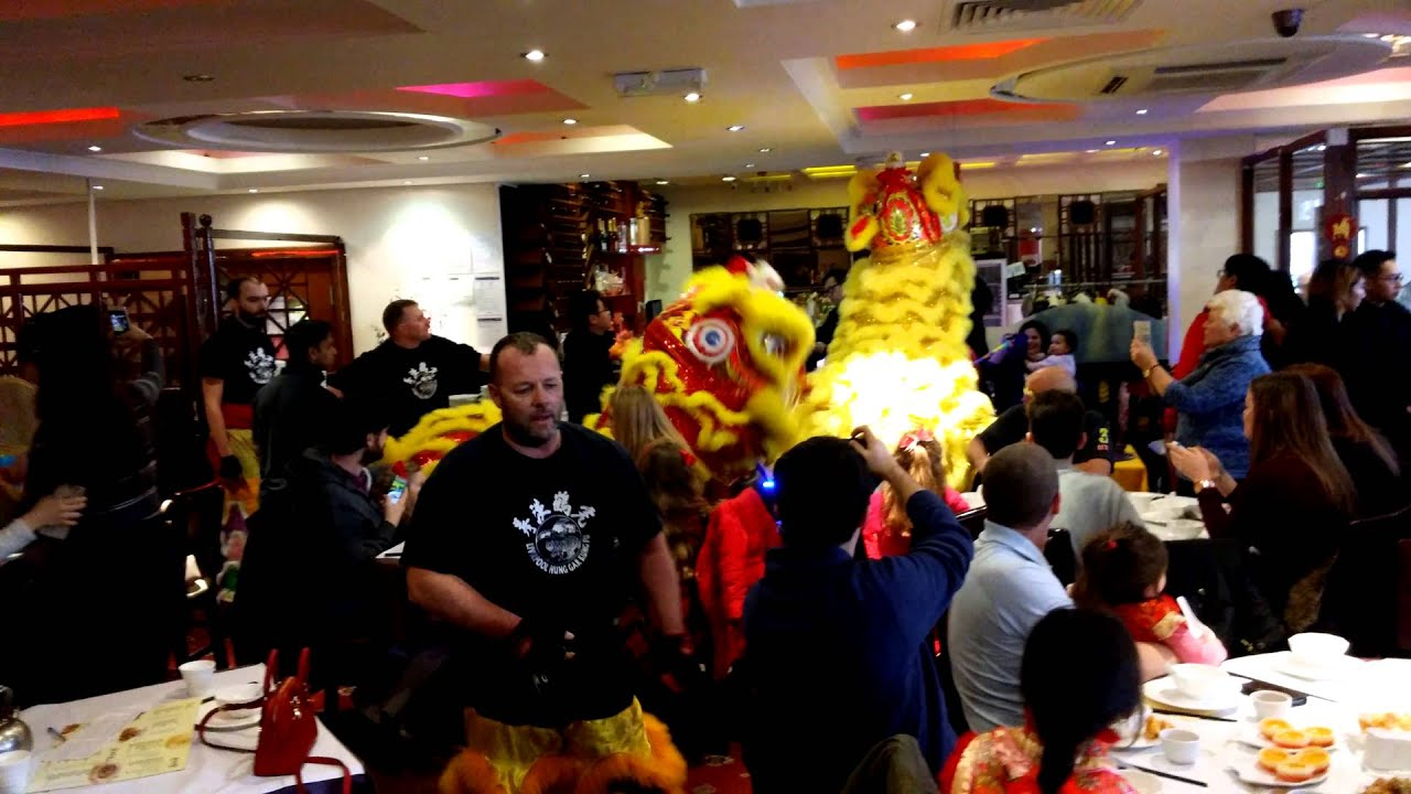 Lion Dancing at the New China Restaurant Liverpool (Chinese new year)