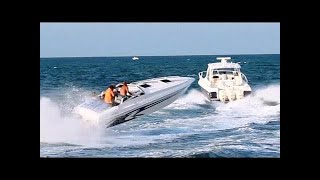 Speed Boats at Haulover in Miami 5-25-2014