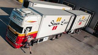 Pepernoten laden tijdens hittegolf en bonken gas geven met de Scania RS730!