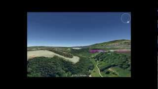 Aerial Tour of Iron Age Hillforts along the River Alyn near Wrexham