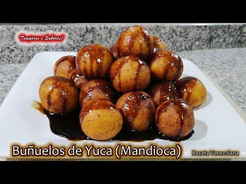BUÑUELOS DE YUCA MANDIOCA con Queso, receta Venezolana