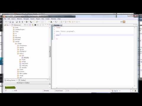 Install PHP Tutorial 4 IDE Aptana studio Part 4