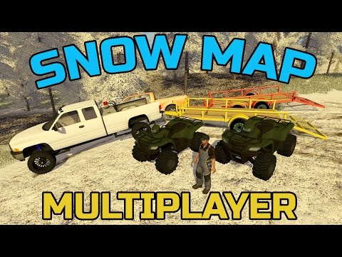 FARMING SIMULATOR 2017 | HAULING ATVS IN THE SNOW | NEW SNOW MAP!