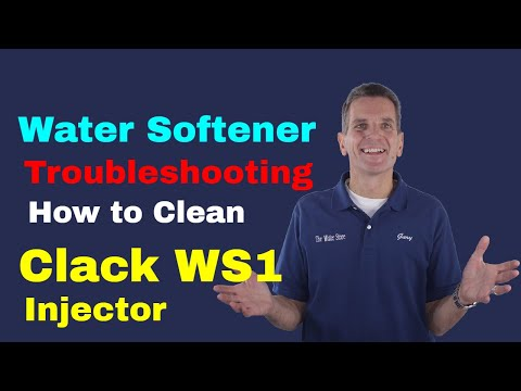 Water Softener Troubleshooting How to Clean Clack WS1 Injector