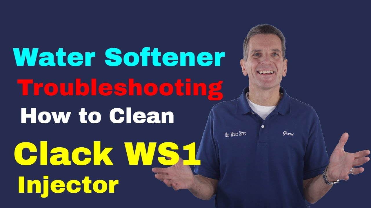 Water Softener Troubleshooting How To Clean Clack Ws1 Injector Youtube