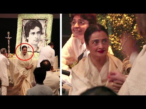 Emotional Rekha CRYING Badly At Shashi Kapoor's Prayer Meet