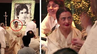 Emotional Rekha CRYING Badly At Shashi Kapoor's Prayer Meet