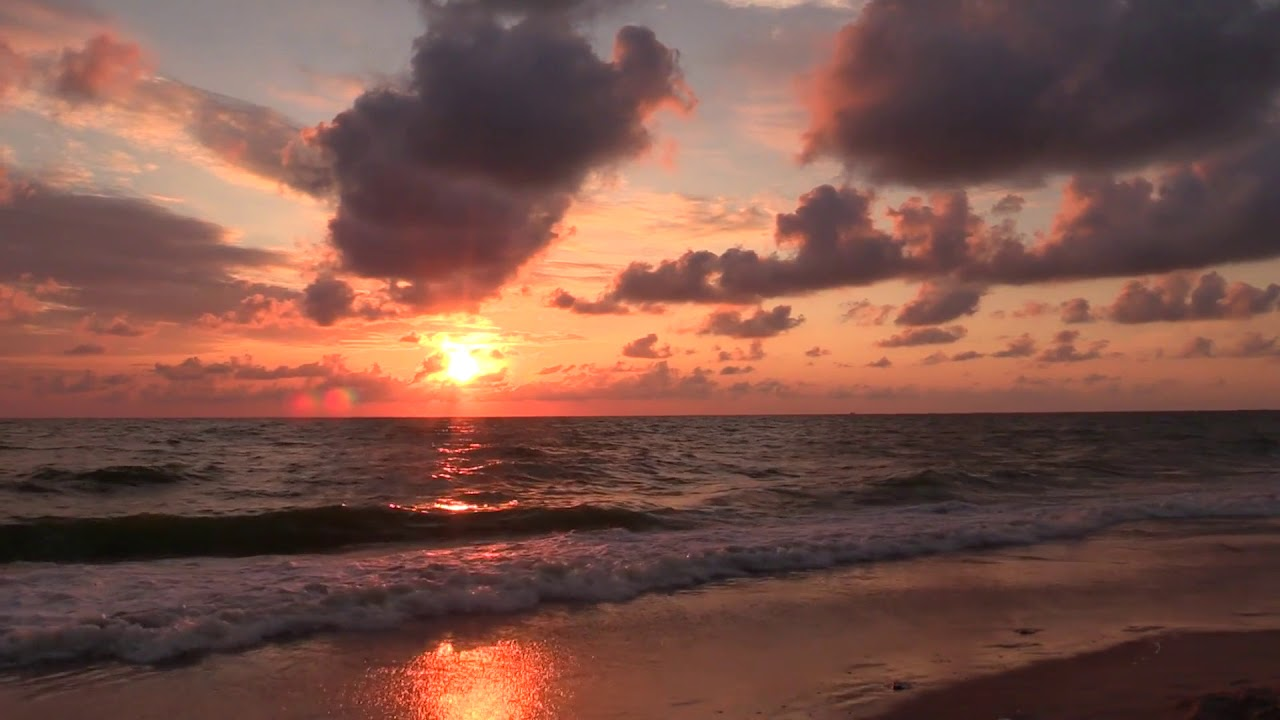 No Copyright, Copyright Free Videos, sunset, beach, sea, waves
