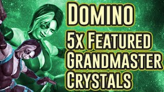 5x Domino Featured Grandmaster Crystal Opening | Marvel Contest of Champions