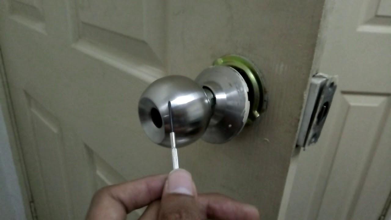 Cara Buka Tombol Pintu Kepala Bulat