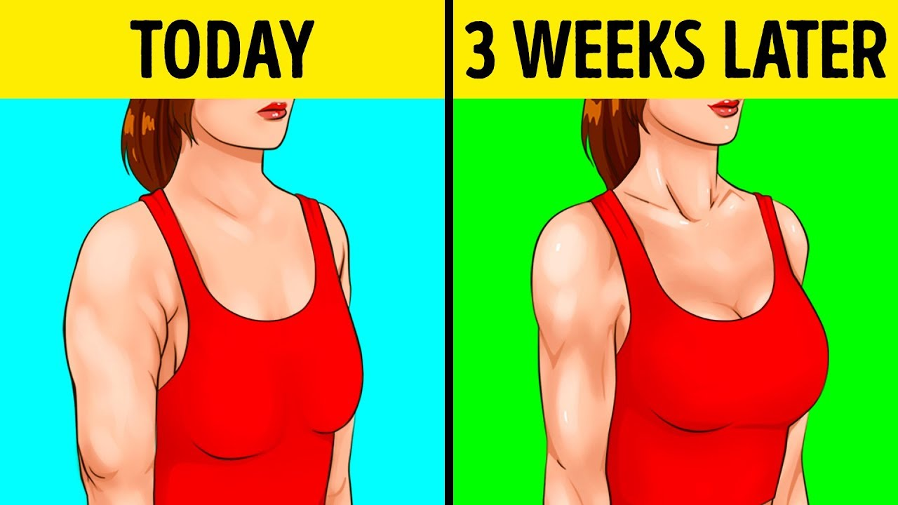 0e5a15b64ee25 10 Easy Exercises For Beautiful Arms and Tight Breasts - YouTube