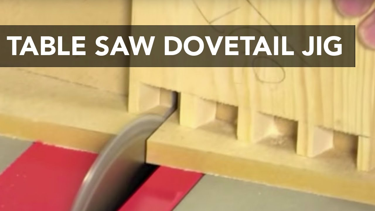 dovetail template maker - table saw dovetail jig youtube
