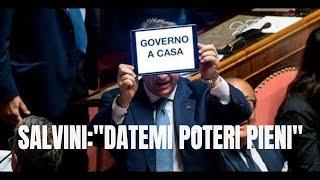 Crisi di Governo, Salvini a Pescara: Datemi pieni poteri