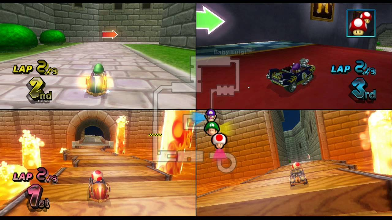 Mario Kart Wii N64 Bowser S Castle 3 Player Netplay Race 60fps