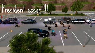 HUGE PRESIDENTIAL ESCORT!!! ROBLOX | Emergency Respond Liberty County
