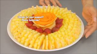 Beautiful Fruit Arrangement 🍍 How to Cut, Slice & Serve