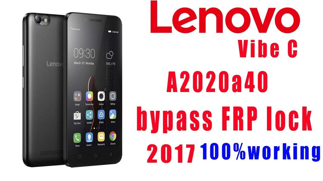 Lenovo A2020a40 Vibe C FRP Lock Unlock 100% working