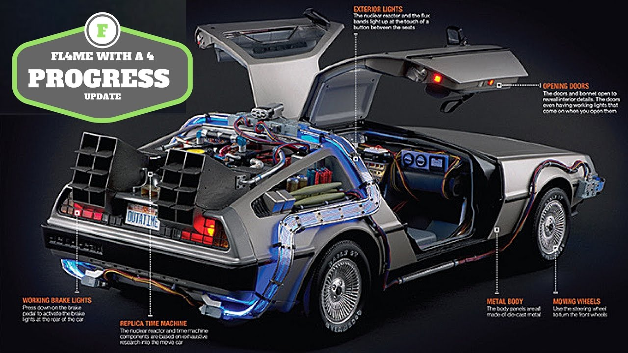 build the back to the future delorean progress update from eaglemoss let 39 s compare youtube. Black Bedroom Furniture Sets. Home Design Ideas