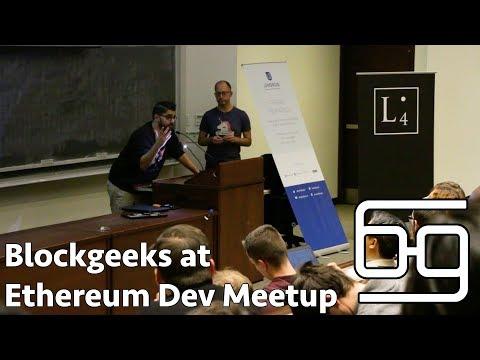 Blockgeeks At Ethereum Developer Meetup
