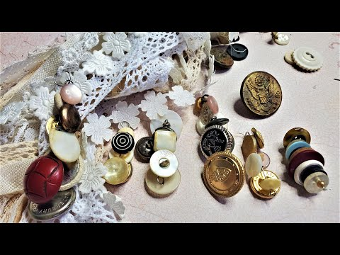 Junk Journal~How To Make Shank Button Dangles! Easy DIY Step By Step Tutorial  The Paper Outpost! :)