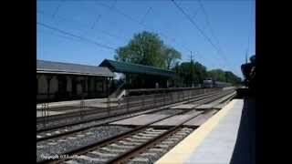 AMTRAK Dash 8-32BWH on Pennsylvanian Train #43 to Pittsburgh 5/26/2013