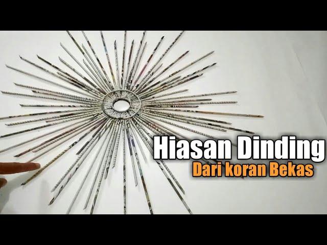 Hiasan Dinding Dari Koran dan Kardus | Ide Kreatif-Newspaper Craft