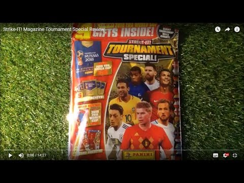 STRIKE-IT! Tournament Magazine Special Review (2018) + Panini Russia 2018 Stickers