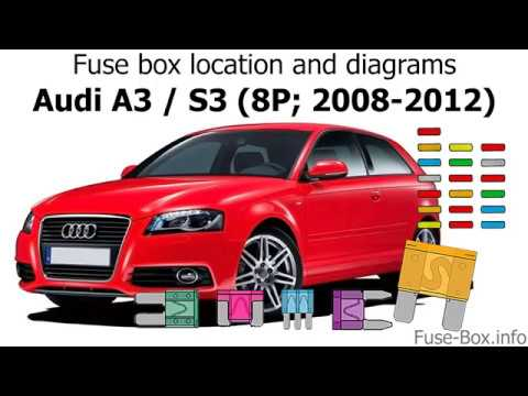 Fuse box location and diagrams Audi A3 / S3 (8P; 2008-2012) - YouTube